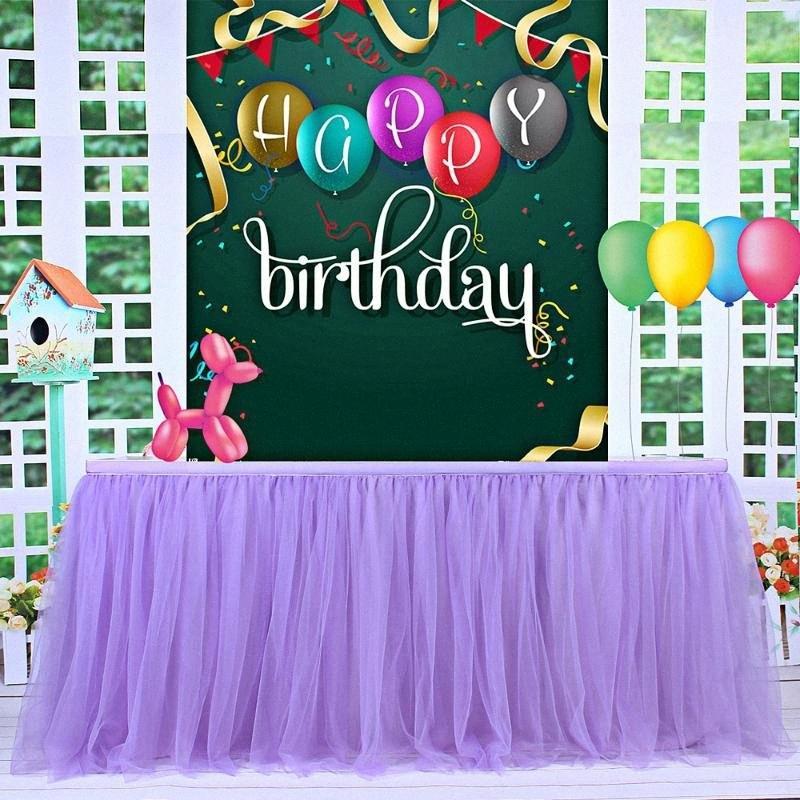 Tulle Tabela saia Toalha de Mesa para festa de aniversário do casamento Tutu festa de casamento decoração Home Louça Saias Home Textile T7X2 #