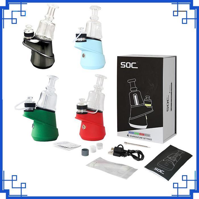 Oryginalna Wysoka jakość SOC Email Kit 2600mAh Koncentrat wosk Shatter Budder Dab Rig z 4 Ustawienia Glass Vaporizer Vape Pen Battery Zestawy