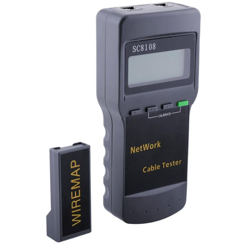 광섬유 장비 휴대용 SC8108 LCD 무선 네트워크 테스터 디스플레이 RJ45와 함께 사용할 수있는 전화 케이블 미터