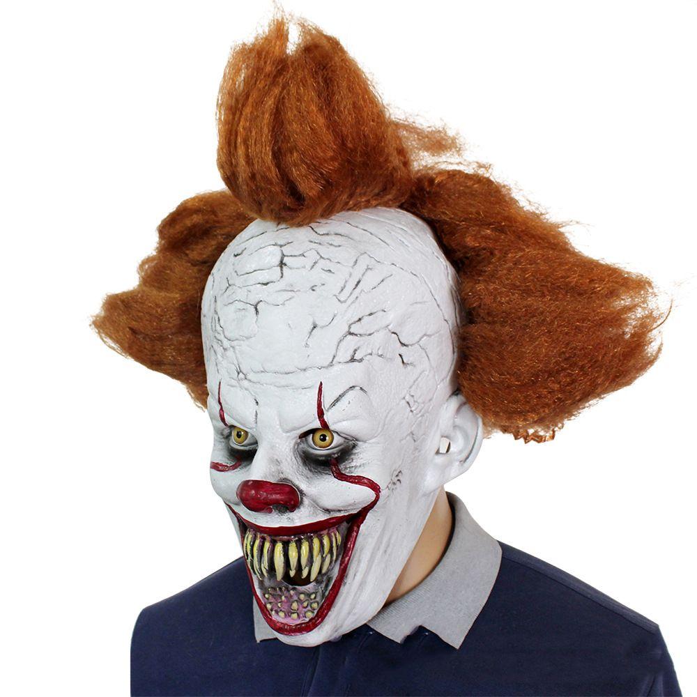 Хэллоуин страшного клоуна маска головного убора вечеринка нового клоун обратно в душе ночь триллера маска драмы декорации поставок