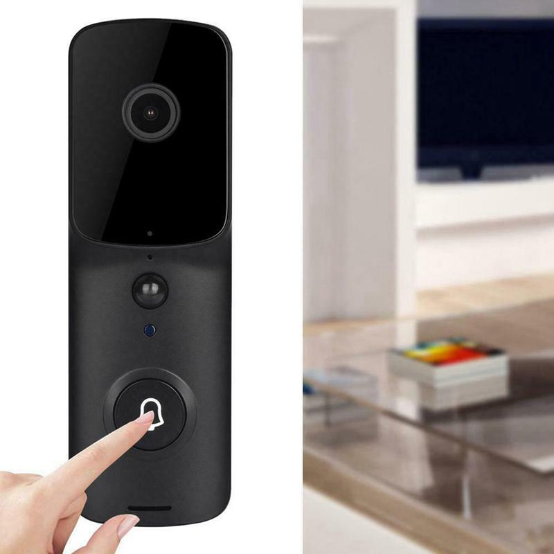 WiFi vidéo intelligent V10 Sonnette Caméra visuelle Intercom avec Chime Night Vision IP Sonnette sans fil Accueil Noir Sécurité Caméra