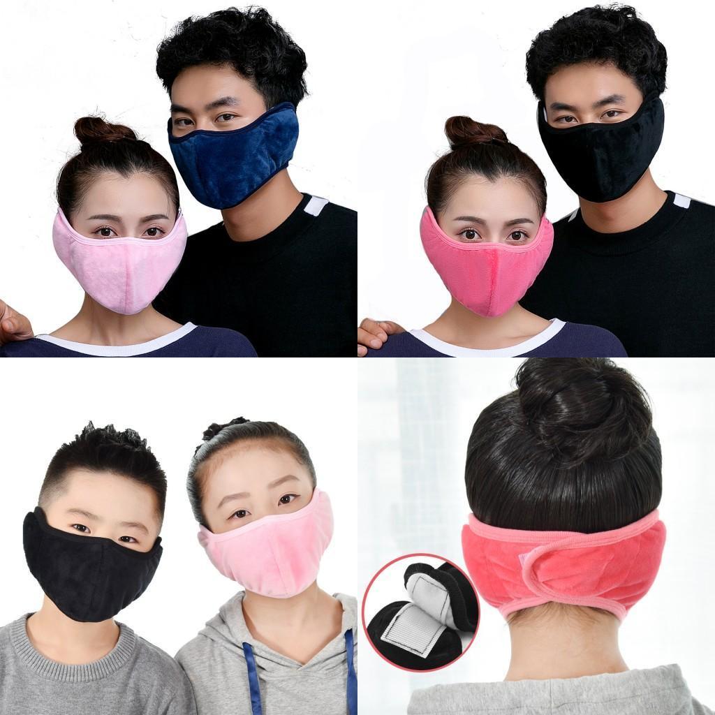 Diseñador de 2020 nueva franela de algodón de la máscara de invierno cálido conductor motorista Cyling Motor máscara de esquí orejeras del oído reutilizable lavable cubierta FY9226 Máscara