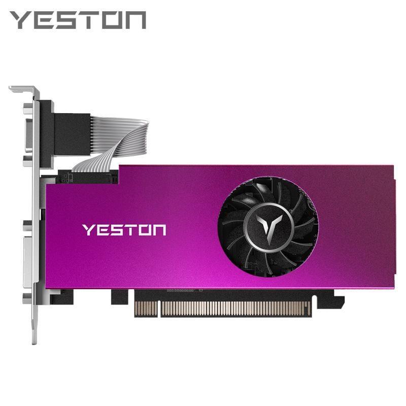 Yeston RX550-2G D5 LP رسم بطاقة 1183-6000MHz 2G 64BIT GDDR5 الألعاب بطاقة الرسومات مع VGA + HDMI + DVI-D