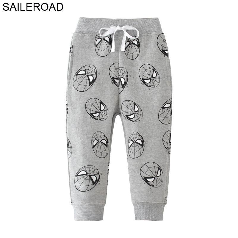 Saileroad 2-7YEARS Pantalones de animales para niños Autumn Enfant Sports Boy Pants Pantalón Pantalon Enfant Garcon Pantalones para niños Boys 201128