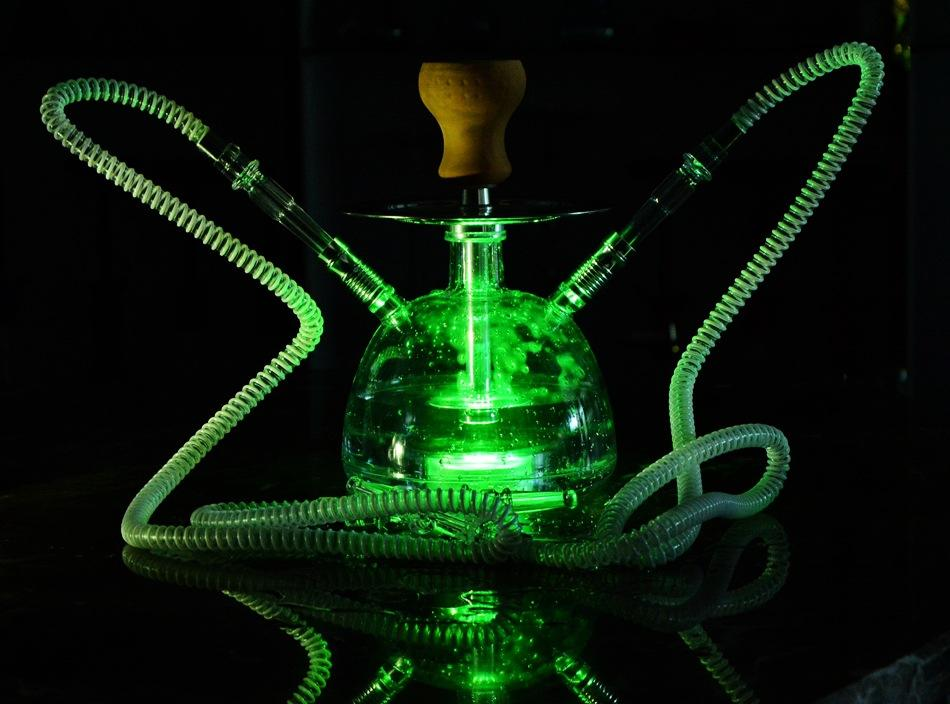Occean ship Wholesalle Smoking Pipes Cross-border source factory direct sale products Arabian hookah set acrylic water pipe single /double tube available