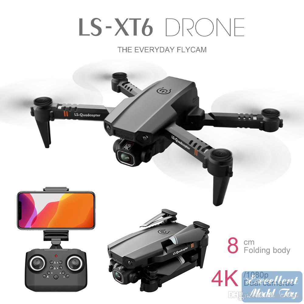 LS XT6 4K HD Dual Camera Drone، FPV Mini Beginner Uav Toy، محاكاة، طيران المسار، الحث الجاذبية، الارتفاع، التقاط الصورة بواسطة لفتة، هدية كيد، 3-2