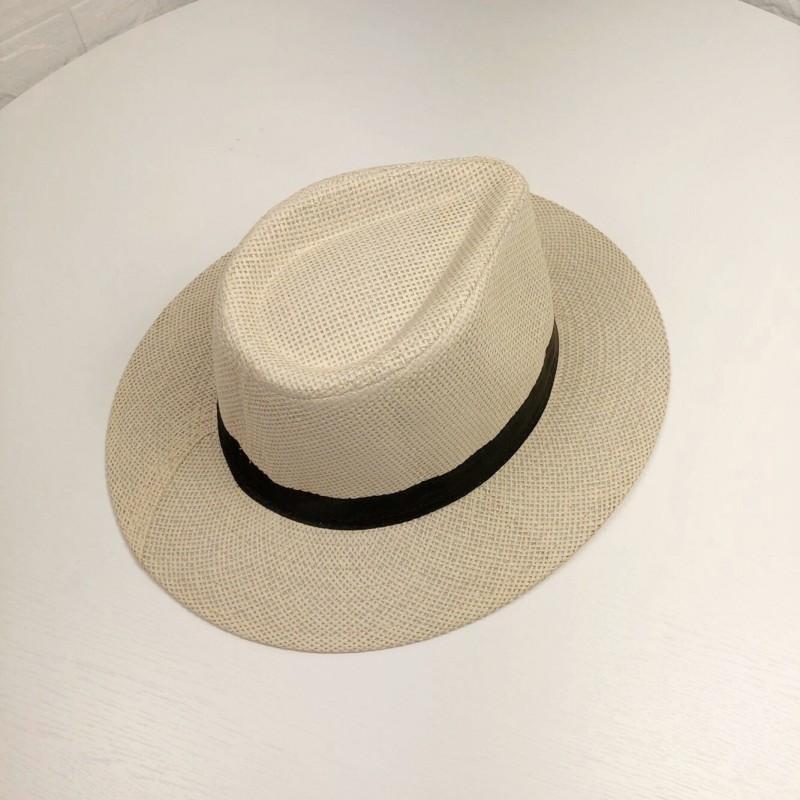 2021 Cool Unisex Sombrero de paja Gorras suaves al aire libre Summer Stingy Brim Fedora Beach Sun Sombreros Colores Elija ZDS * 1