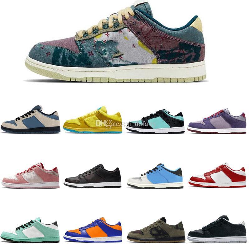2021 Yeni Tıknaz Dunky SB Ayakkabı Düşük Otantik Sneakers Minnettar Ölü Dunk Pembe Dijital Kavramlar Mens Bayan Spor Eğitmenleri 36-44 29zl #