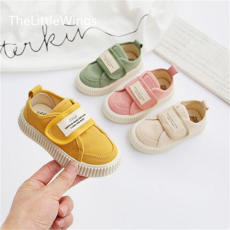 Children's Canvas Outono New Boys 'Respirável Bebê Casual Kindergarten Soft-Soled Meninas Sapatos de pano 1-8 anos Y201028