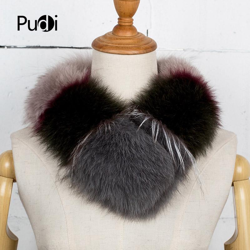 Шарфы Pudi SF770 2021 зимние женские натуральные меховые шарф шикарные многоцветные шить дизайн мода теплый сундук