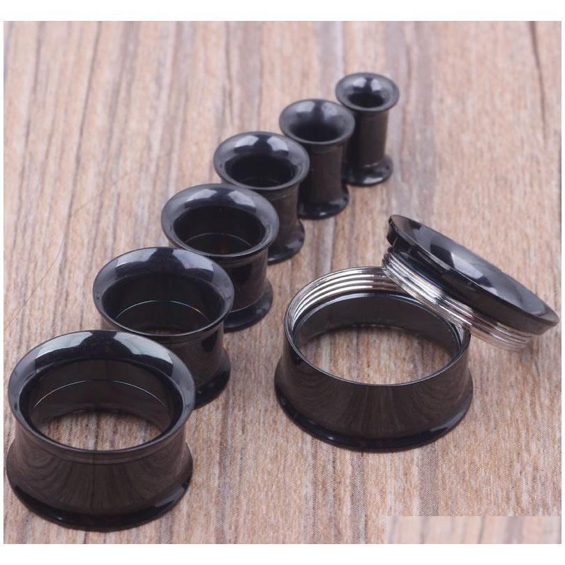 Смешайте 5-20 мм 36 шт. Нержавеющая сталь Нержавеющая сталь Черный внутренне резьбовой двойной вспышки мяса туннельная вилка P JLLheo Carshop2006