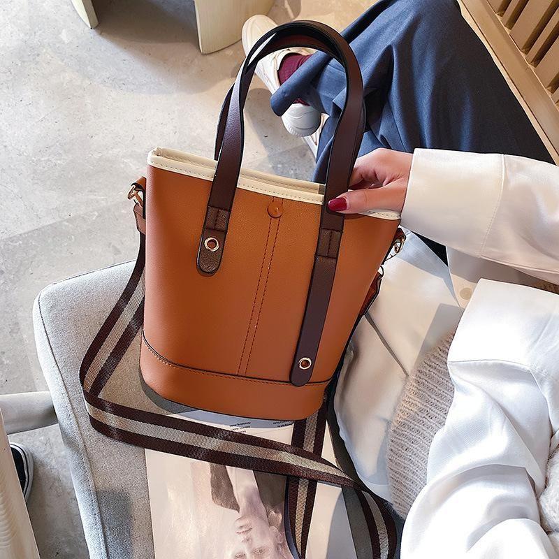 Women's Style Fashion Korean Bag New Bucket Bag Messenger 2020 Portable Retro Viwqm