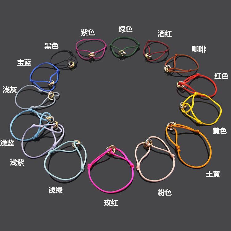 العلامة التجارية الجديدة للجنسين شعبية الساخنة الفولاذ المقاوم للصدأ سوار 3 مشبك معدني الشريط الدانتيل يصل سلسلة متعدد الألوان سوار حبل قابل للتعديل