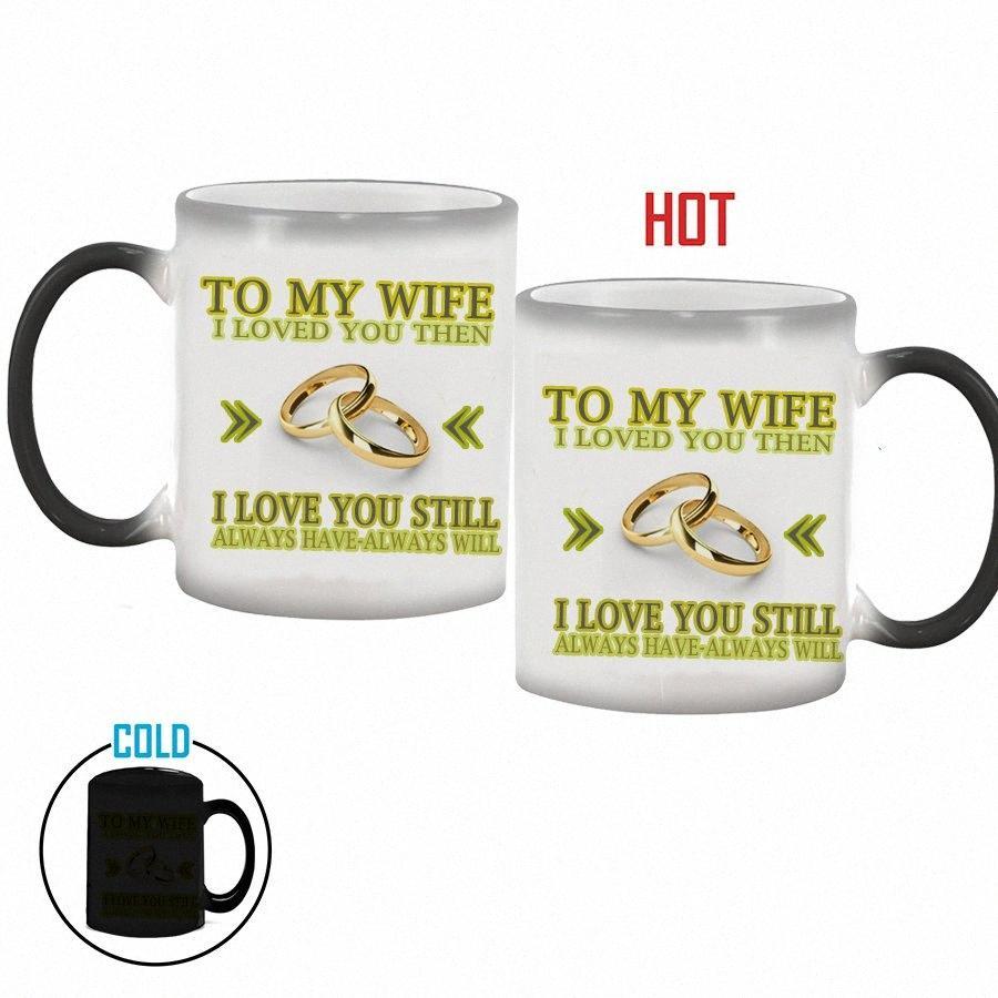 Toptan eşimi / Kahve Kupa evlilik yıldönümü hediyeleri değiştirme Koca Mug Magic Renk, En İyi Hediye karısı veya kocası qF0Z # için