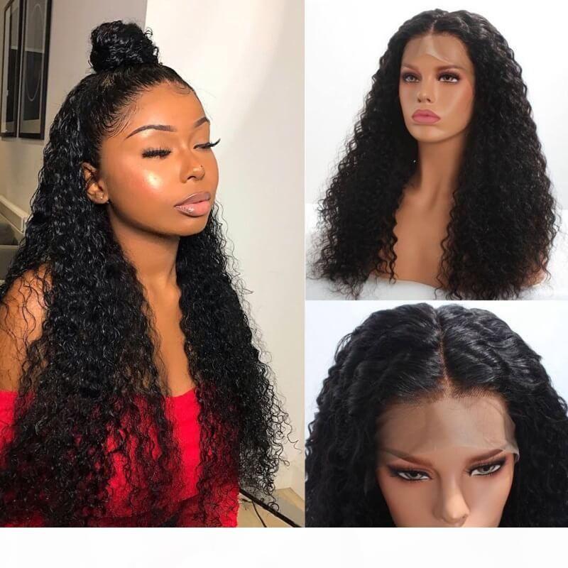 Nuovo stile Cheaper ricci 360 merletto della parte anteriore dei capelli umani parrucche per donne di colore 150% Remy del merletto brasiliano Pre a pizzico con i capelli del bambino