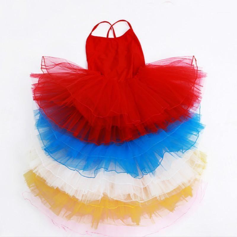 Swan Lake Gymnastics Leotard Girls Ballet Tutu Skirts 드레스 키즈 민소매 서정 댄스 의상 어린이 Lycra Jumpsuit1