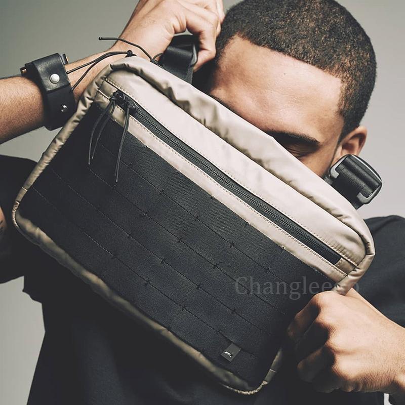 Новая уличная одежда для мужчин HIP-хоп сундук сумок сумки мода Тактический ремешок сумка мужской квадратный жилет пакет Kanye Man C1026