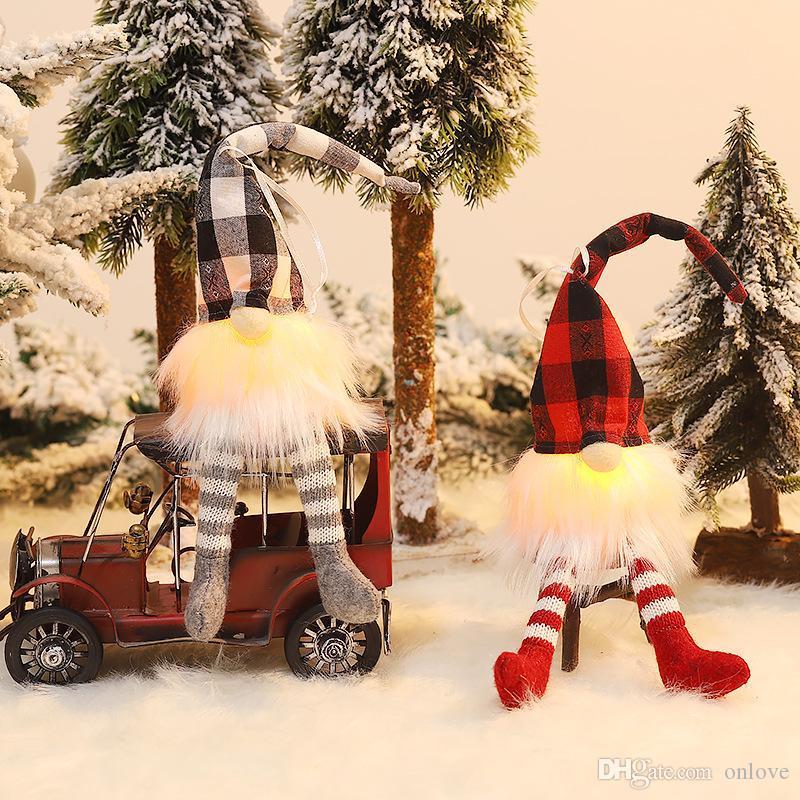 2020 Gnome Weihnachtsdekoration Geschenk für Kind-Heim-Verzierungen LED-Licht Weihnachten Outdoor-Tischdekoration HH9-3536