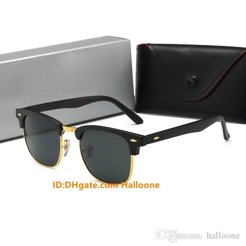 Luxurys Designer Marke 2021 Designer Mode Männer Pilot Sonnenbrille UV400 Outdoor Sport Vintage Frauen Retro Brillen mit Kasten und Hüllen