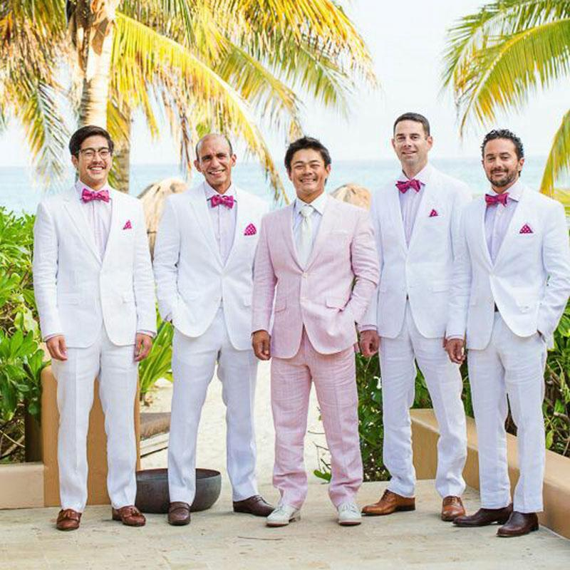 Мужские костюмы для свадьбы жених смокинг Пром двухкусочного Terno Мужчина для Шафер Blazer Повседневного Белого Шафера Outfit