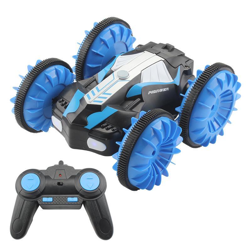 360 drehen Fernbedienung Auto RC Stunt Auto 2 Seiten wasserdichtes Fahren auf Wasser und Land Amphibiene Elektrische Spielzeug für Kinder LJ200919