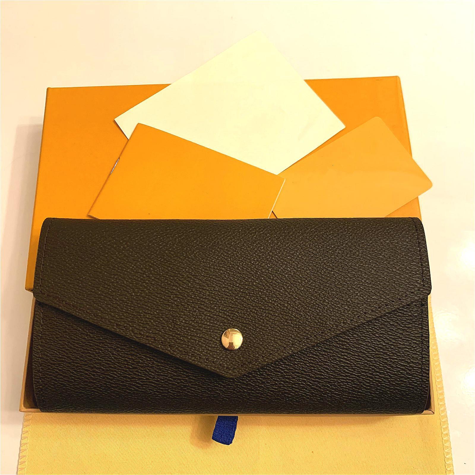 M60531 Sarah Wallet Designer Sobre largo de las mujeres Emilie Josephine Cartera Tarjeta de llave Tarjeta de la llave Holder Monedero Mini Pochette Accessoires CLE