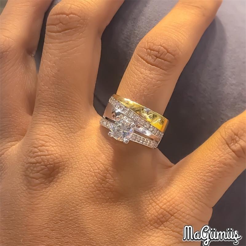 New Gold Модель Обручальное обручальное кольцо Серебряное кольцо 201112