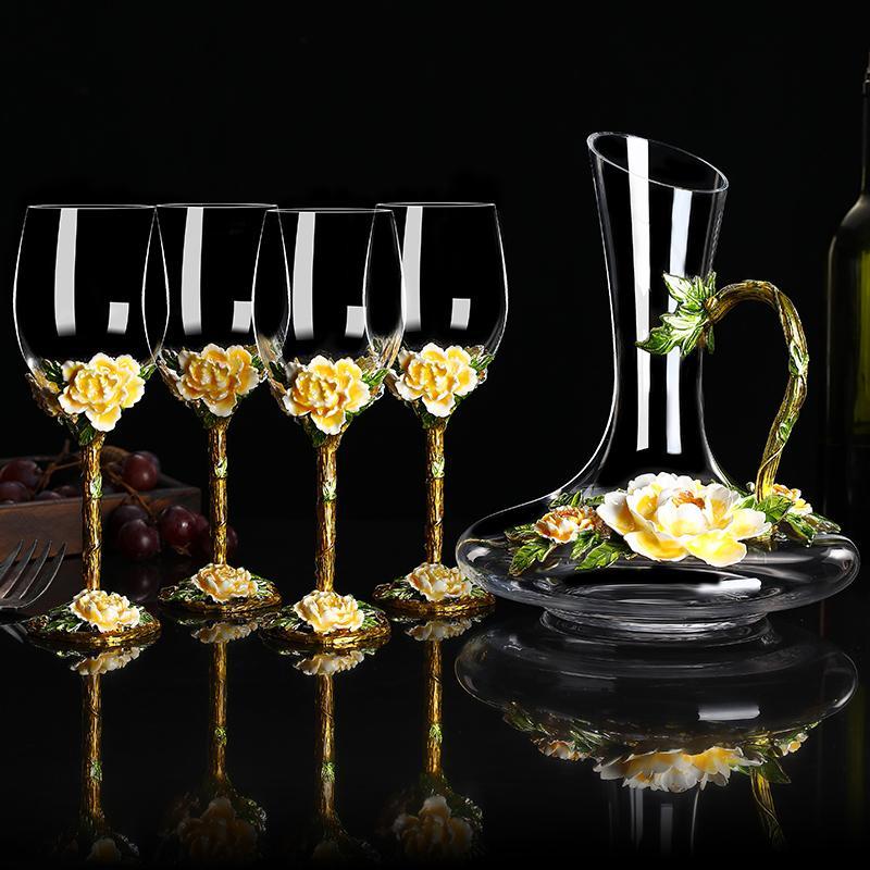 Decantador de color de esmalte de estilo europeo Personalidad creativa Home Wine Champagne Gift Gift Cups Q1222