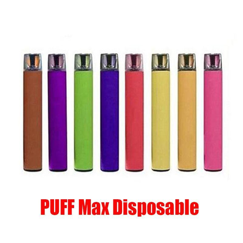 PUFF MAX 2000 Sbuffi monouso Dispositivo Kit 1200mAh batteria 8.5ml preriempita Pods Vape Stick Svuotare penna VS Bar Inoltre XXL flusso Bang 8 colori