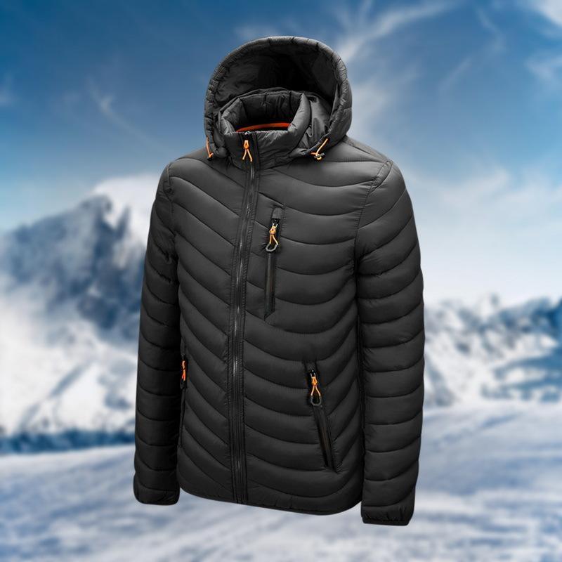 Winter Men's Down Jacket Ultra Light Down Jacket Men Windbreaker Feather Jacket Male Lightweight Portable Warm Winter Coat 201022