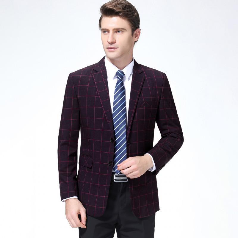 Free2021 EDAD TEMPORADA Negocio Casual Ocio Traje de ocio Chaqueta de mediana edad para hombres One Western Male Wool Coat Suits Blazers