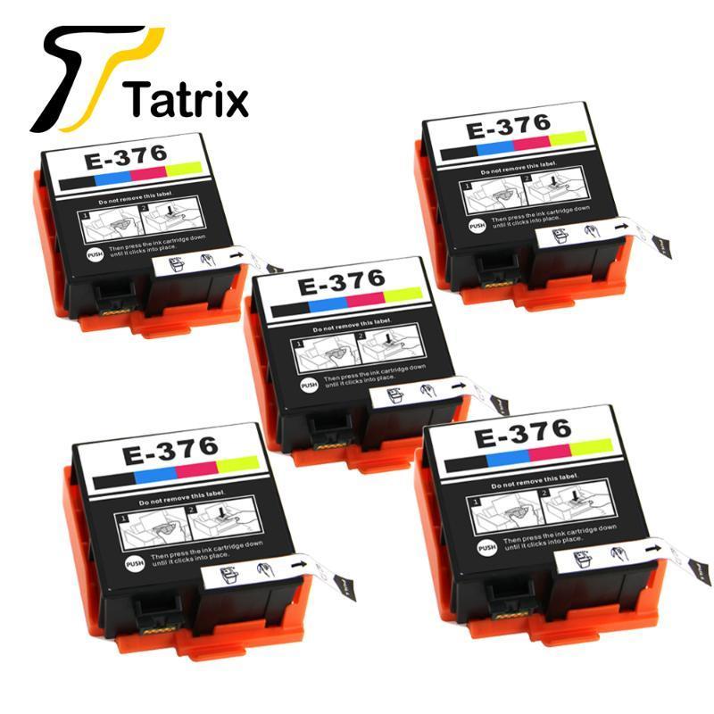 Cartucho de tinta de impressora compatível com cores Tatrix T376 T3760 para Picturemate PM-525