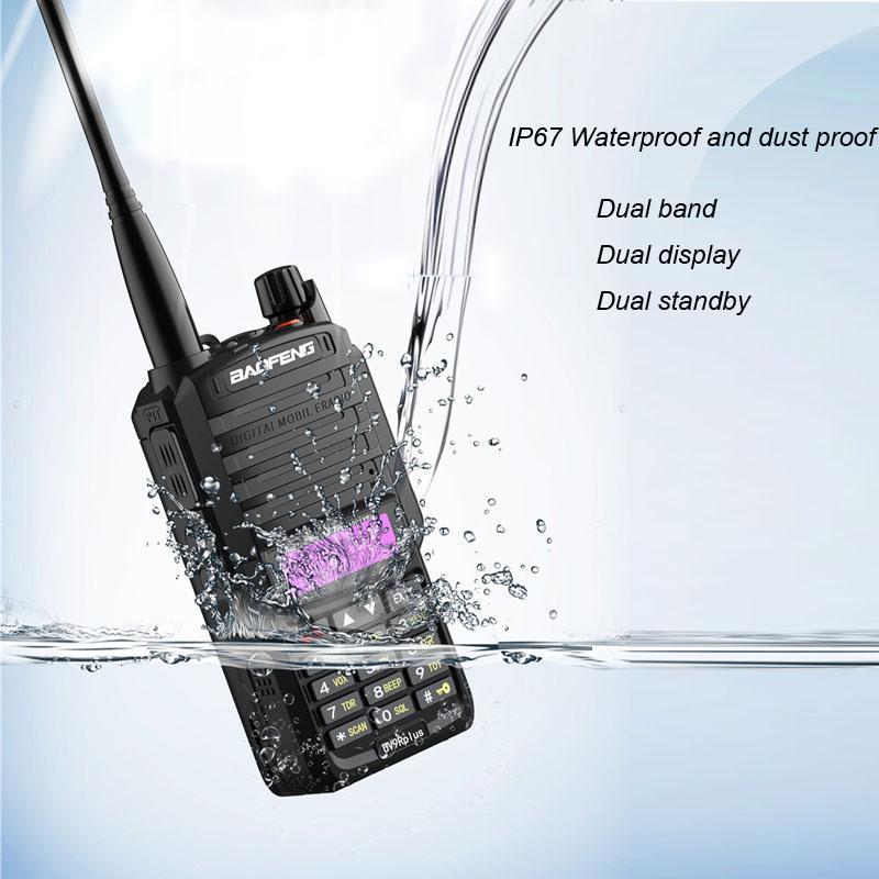VHF UHF Baofeng Original UV 9R Walkie Talkie Two Way Dual Band Radio IP67 Waterproof Radio BAOFENG UV 9R +