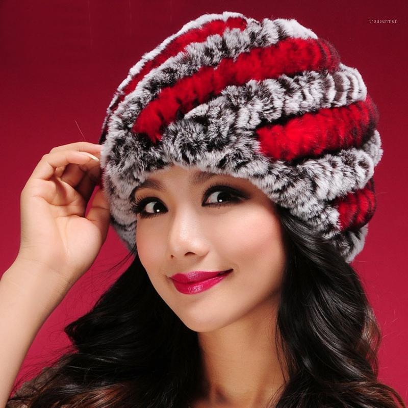 Cappello di pelliccia reale delle donne per il cappello naturale della pelliccia naturale della femmina di lusso del lusso 2020 Nuovo1