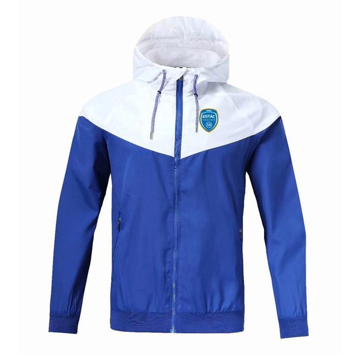 ES Труа ветровка на молнии с капюшоном куртки футбол Ветровка футбол куртка Спортивная полный молния пальто мужские куртки