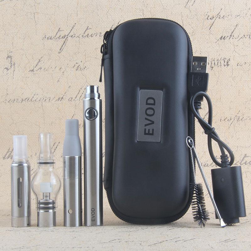 Magic 3 i 1 förångare för flytande tjock olja vaxväxter för sedan MT3 Globle Atomizer Evod Battery Starter Kits e Cigaretter Vaporizer