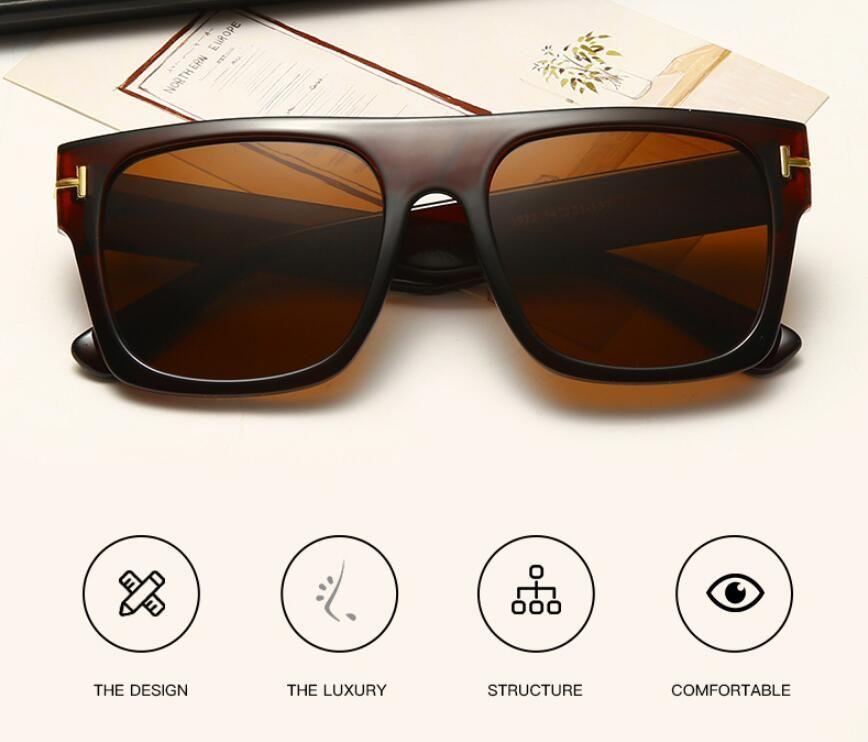 Ford New Fashion Square Sunglasses For Designer Woman Eyewear 2021 Tom Lenses Sun Glasses Ford UV400 Round Trend Fashion Sunglasses Man Aeib