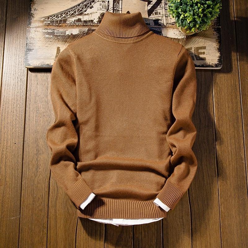 2020 Новое Прибытие Кашемировой мужской Рождественский свитер с длинным рукавом Slim Fit Turtleneck Pullover Men