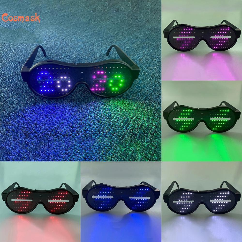 masque flash Halloween, lunettes LED, éclairage festival coloré, cadeaux clignotants, pour DJ, décoration festival