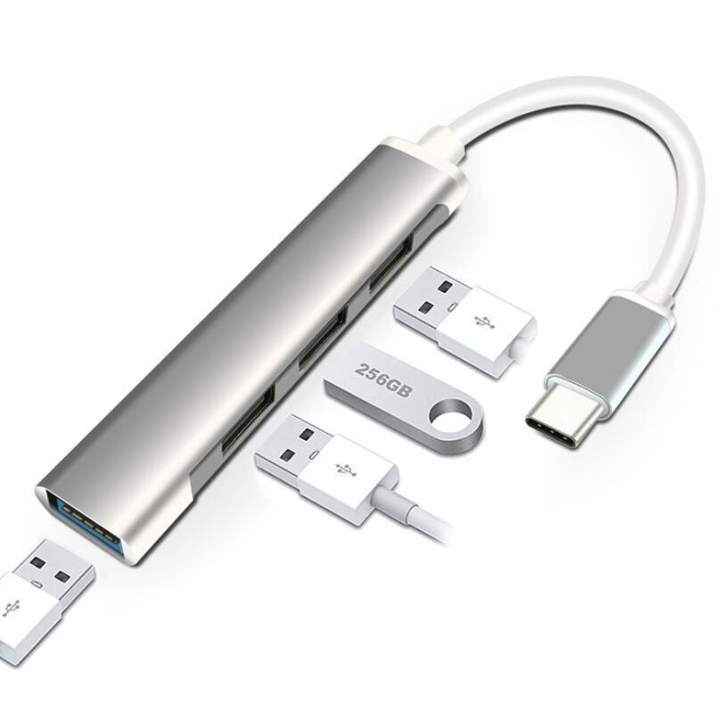 USB 3.0 HUB Тип C 4 Port Multi Splitter Adapter OTG для Lenovo MacBook Pro PC Компьютерные аксессуары