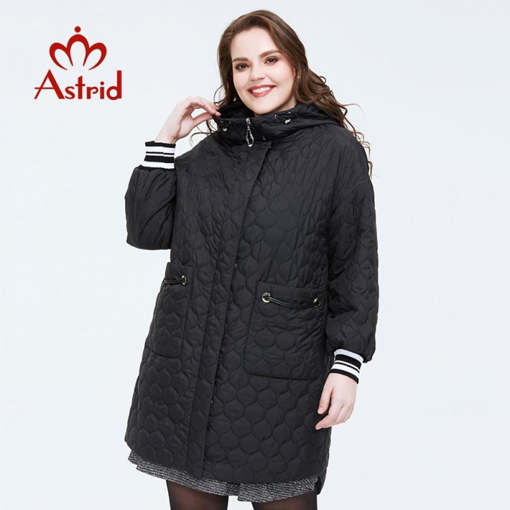 Astrid Primavera Nova Chegada Mulheres Casaco Plus Size Mid-Length Style Outerwear Alta Qualidade Com Uma Capuz Mulheres Roupas AM-3511 201026
