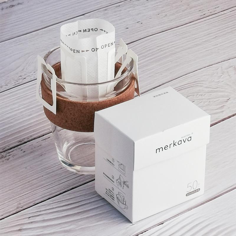 50 pçs / embalagem descartável café fliter sacos portáteis pendurar estilo de ouvido filtros de café eco-friendly saco de papel para café espresso1