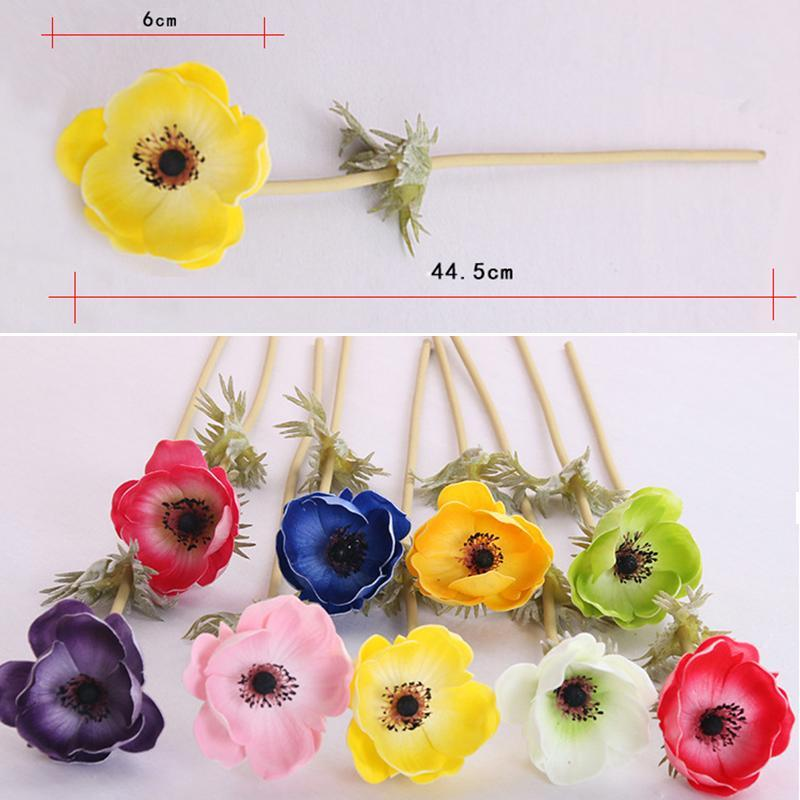 Künstliche Anemone Blumen Seide Flores Künstliche Für echte Touch Hochzeit Halten Gefälschte Blumen Hausgarten Dekorative Kranz