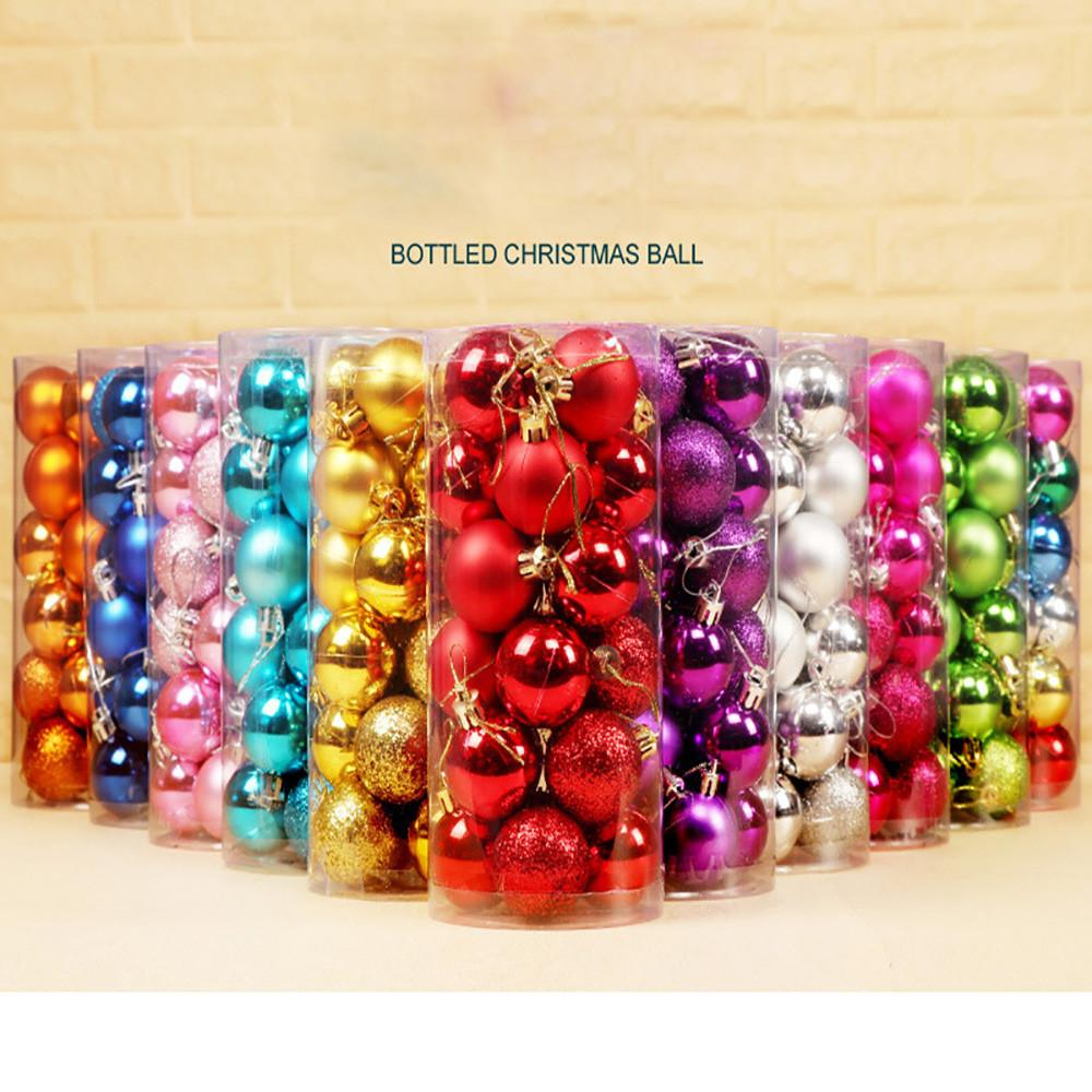 24pcs/lot 30mm Christmas Tree Decor Ball Bauble Xmas Party Hanging Ball Ornament decorations for Home Christmas decorations