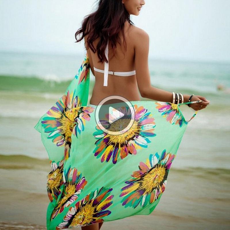 E4I3 donne del tovagliolo Sexy Beach Sling indossare abiti Pareo Bikini ER-up Wrap Pareo Gonne Open-indietro Swimwear Drop Shipping