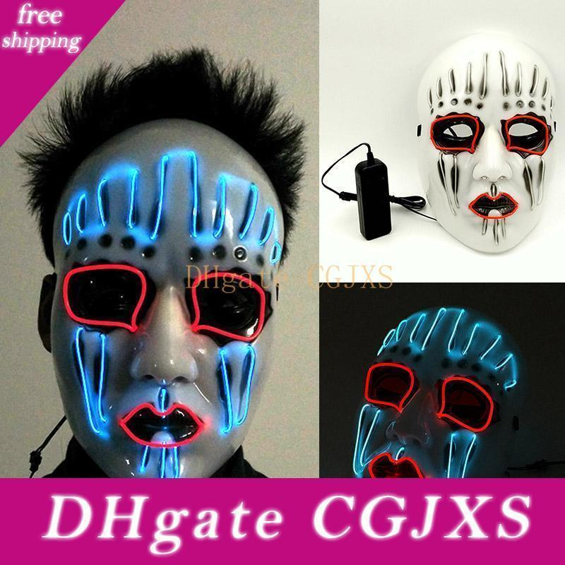 Led Halloween Halloween El Draht Partei Masken-Maskerade WX9 Geschenk Karneval Cosplay Geburtstag Gesichtsmasken -59 Kostüme Glowing volle Partei Mas QRQC