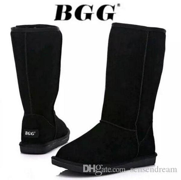 Tous les modèles en stock 2018 de haute qualité WGG pour femmes Bottes hautes classiques pour femmes bottes botte bottes de neige bottes en cuir d'hiver US TAILLE 5 --- 13
