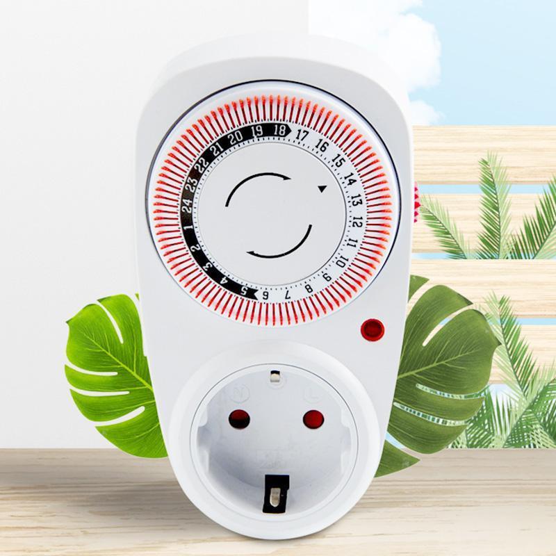 Plug-in 24 heures programmable Programme électrique Programme électrique Timisseur Interrupteur d'alimentation 230V Économie d'énergie EU Fiche