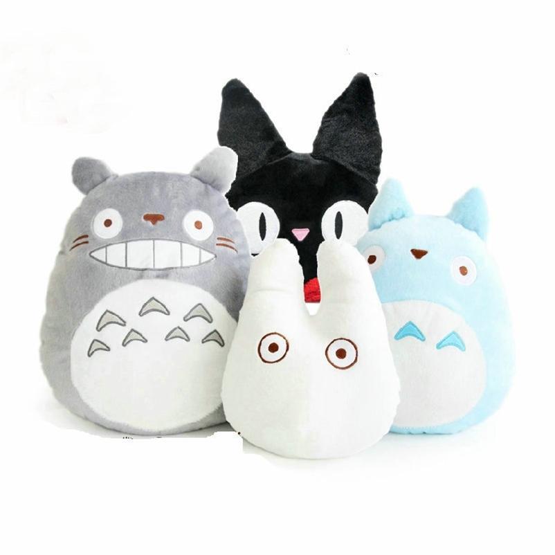 Japão anime dragão gato pelúcia brinquedo macio fronha de pelúcia / almofada dos desenhos animados boneca branca / kikis serviço de entrega preto gato crianças brinquedos 201222