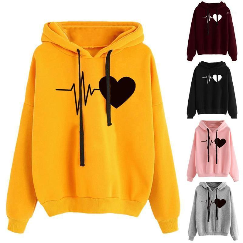 Übergroße Sweatshirt Frauen Incoming Call Liebe Gedruckt Hoodies Sweatshirt Herbst Winter Langärmeliger Pullover Tops Hoodie Damen1